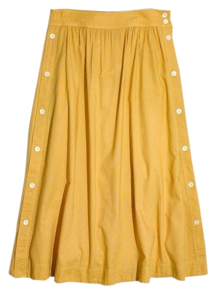 efd1af4a9 Madewell Yellow Side-button Skirt Size 4 (S, 27) - Tradesy