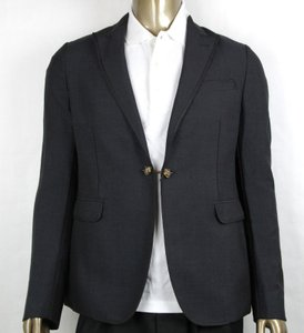 Gucci Charcoal Wool/Mohair Formal Evening Jacket 1 Button It 52r/Us 42r 406543 1165 Groomsman Gift
