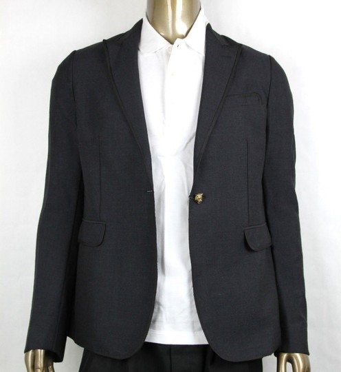 Gucci Charcoal Wool/Mohair Formal Evening Jacket 1 Button It 52r/Us 42r 406543 1165 Groomsman Gift Image 1