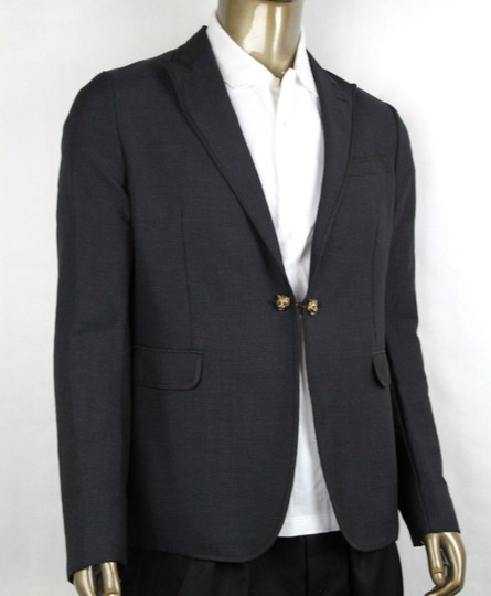 Gucci Charcoal Wool/Mohair Formal Evening Jacket 1 Button It 52r/Us 42r 406543 1165 Groomsman Gift Image 2
