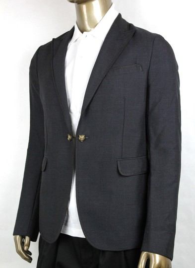 Gucci Charcoal Wool/Mohair Formal Evening Jacket 1 Button It 52r/Us 42r 406543 1165 Groomsman Gift Image 5