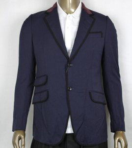 Gucci Blue W Poly/Wool/Elastane Formal Jacket W/2 Buttons It 46r/Us 36r 398952 4873 Groomsman Gift