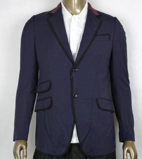 Preload https://img-static.tradesy.com/item/23560124/gucci-blue-polywoolelastane-formal-jacket-w2-buttons-it-46rus-36r-398952-4873-groomsman-gift-0-0-540-540.jpg
