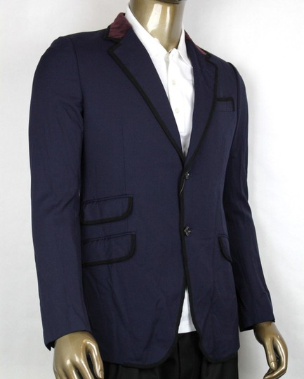 Gucci Blue W Poly/Wool/Elastane Formal Jacket W/2 Buttons It 46r/Us 36r 398952 4873 Groomsman Gift Image 1
