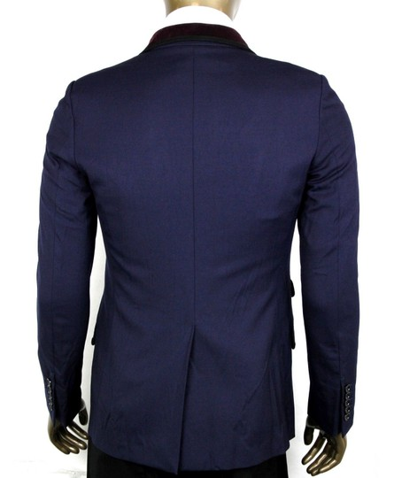 Gucci Blue W Poly/Wool/Elastane Formal Jacket W/2 Buttons It 46r/Us 36r 398952 4873 Groomsman Gift Image 3