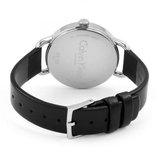 Calvin Klein K7B231C6 Women's Black Leather Band With Silver Analog Dial Watch Image 1