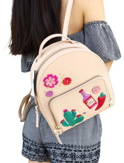 Preload https://img-static.tradesy.com/item/23560303/kate-spade-cactus-tomi-new-horizons-cashew-small-tan-saffiano-leather-backpack-0-1-540-540.jpg