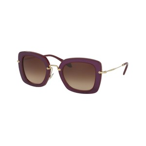 Miu Miu Miu Miu Prada Women's Brown Tinted Purple Sunglasses SMU07O