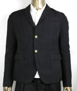 Gucci Black Wool/Mohair Formal Jacket 2 Buttons 1 Vent It 60r/Us 50r 400669 Groomsman Gift