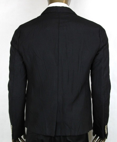Gucci Black Wool/Mohair Formal Jacket 2 Buttons 1 Vent It 60r/Us 50r 400669 Groomsman Gift Image 3