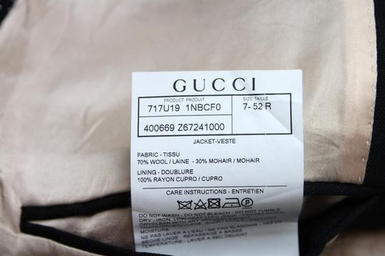 Gucci Black Wool/Mohair Formal Jacket 2 Buttons 1 Vent It 60r/Us 50r 400669 Groomsman Gift Image 8