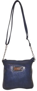 Ellen Tracy Refurbished Small Leather Lined Cross Body Bag