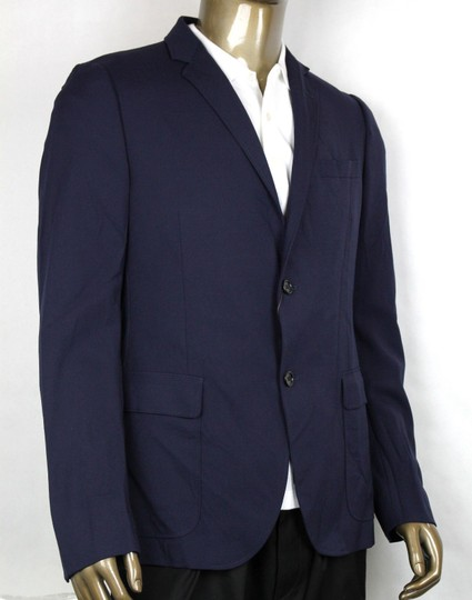 Gucci Blue Poly/Wool/Elastane Formal Jacket 2 Buttons It 46r/Us 36r 398953 4379 Groomsman Gift Image 1
