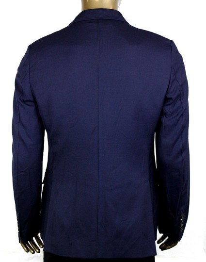 Gucci Blue Poly/Wool/Elastane Formal Jacket 2 Buttons It 46r/Us 36r 398953 4379 Groomsman Gift Image 3