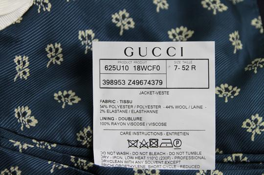 Gucci Blue Poly/Wool/Elastane Formal Jacket 2 Buttons It 46r/Us 36r 398953 4379 Groomsman Gift Image 7