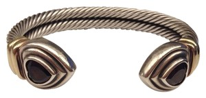 David Yurman David,Yurman,Sterling,Silver,And,Garnet,Cuff,Bracelet