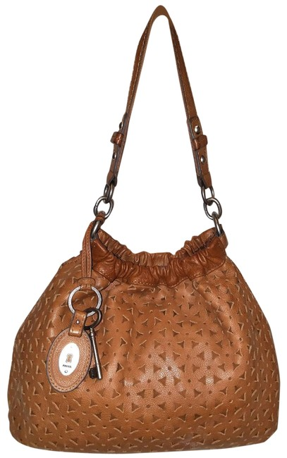 Item - Handbag Large Cognac Brown Cut Out Spicy Mustard Leather Hobo Bag