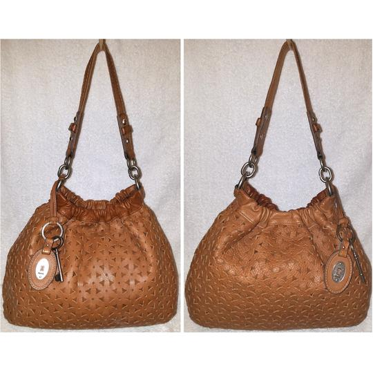 Fossil Refurbished Cognac Brown Leather Euc Lined Hobo Bag Image 1