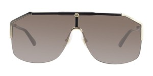 Gucci Gucci GG0291S 002 Gold Black/Brown Lens Shield Sunglasses