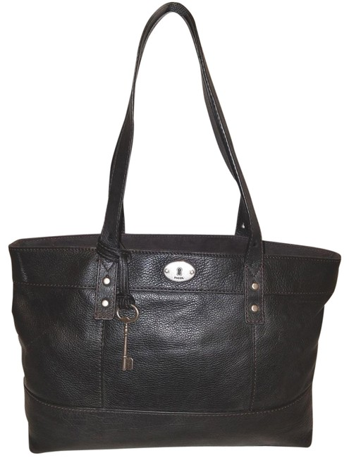 Item - Extra-large Handbag with A Zipper Closure Black Leather Tote