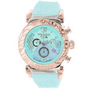 Mulco MW52388483 Unisex Aqua Green Silicone Band With Aqua Green Dial Watch