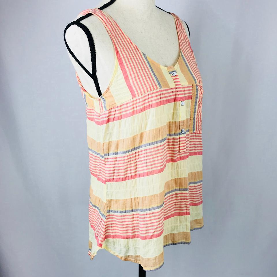 5c7955c174e Woolrich Stripes Of Pastel Colored Reds Blues Oranges and Light Yellows.  2168 Tank Top/Cami Size 4 (S) 44% off retail
