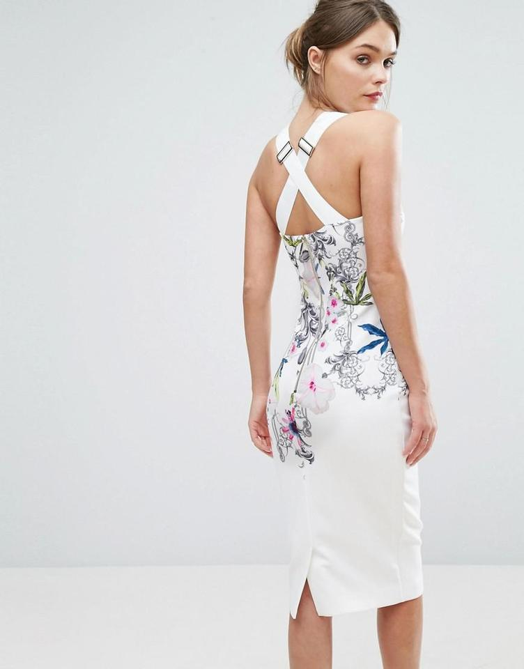 Ted baker white scarlin passion flower body con tb 2 us 4 6 mid ted baker midi dress 12345 mightylinksfo