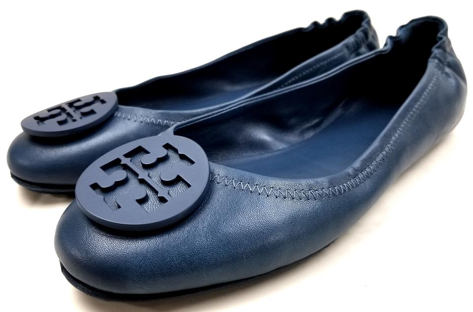 8911fc358867 Tory Burch Fresh Blueberry  minnie  Travel Ballet Flats Size US 9 ...