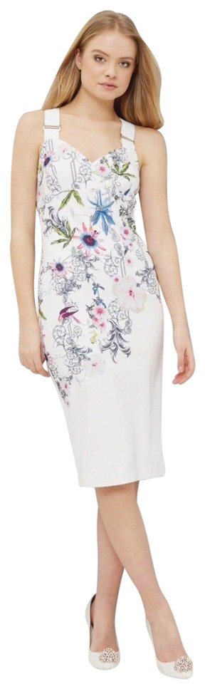 Ted baker white scarlin passion flower body con tb 1 us 0 2 mid ted baker midi dress mightylinksfo