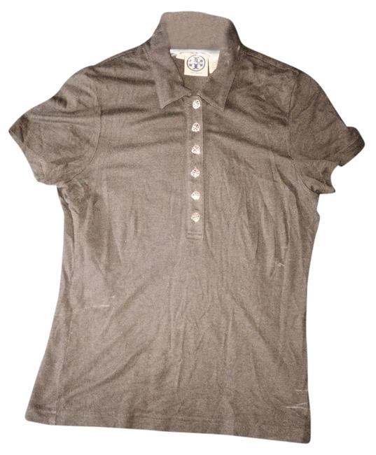 Item - Brown Polo Stretch Brass Buttons Tee Shirt Size 4 (S)