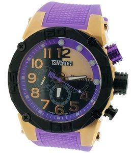 Techno Sports TS56010 Unisex Purple Silicone Band With Black Analog Dial Watch
