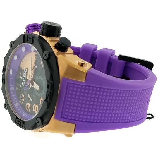 Techno Sports TS56010 Unisex Purple Silicone Band With Black Analog Dial Watch Image 1