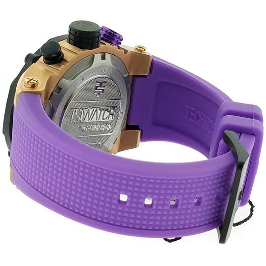Techno Sports TS56010 Unisex Purple Silicone Band With Black Analog Dial Watch Image 2