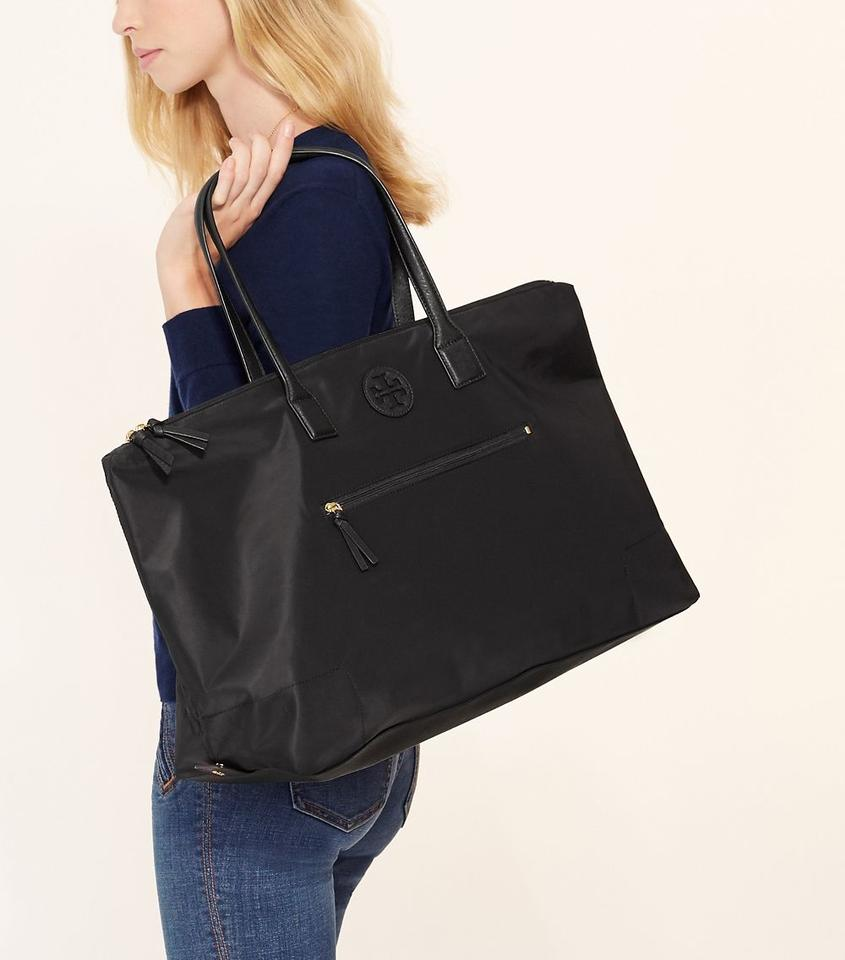 74499435ca1 Tory Burch Packable Large Tote Black Travel Bag Image 10. 1234567891011