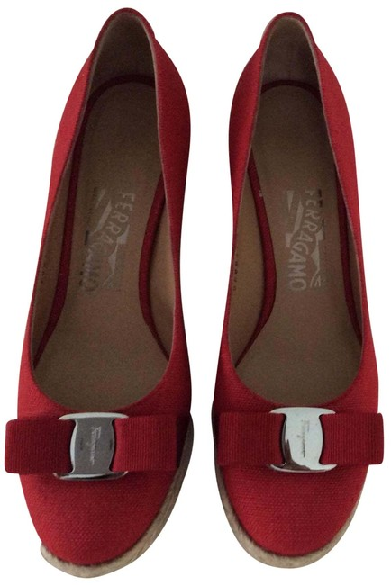 Item - Red ( Color On Box Label As Rosso) Darly Wedges Size US 7.5 Regular (M, B)