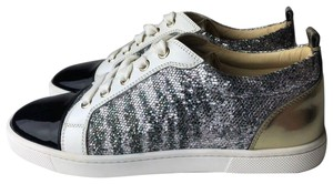 Christian Louboutin black silver gold Athletic