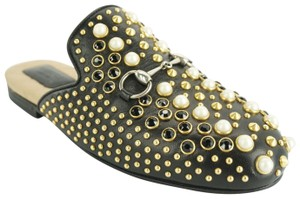 Gucci Princetown Studded Loafer Pearl black Flats