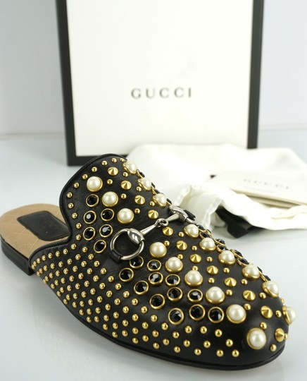 Gucci Princetown Studded Loafer Pearl black Flats Image 1