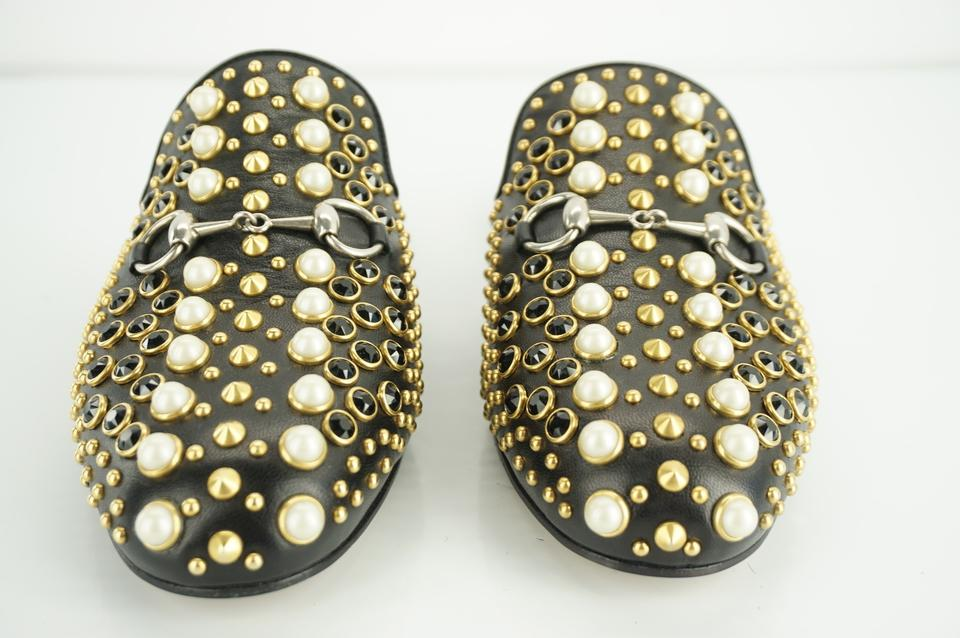 27ff1e78f Gucci Princetown Studded Loafer Pearl black Flats Image 11. 123456789101112