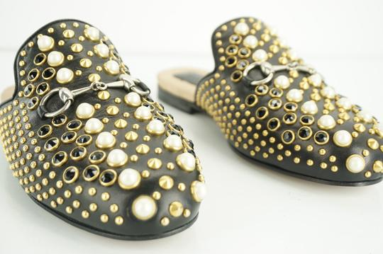 Gucci Princetown Studded Loafer Pearl black Flats Image 8