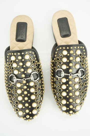 Gucci Princetown Studded Loafer Pearl black Flats Image 9