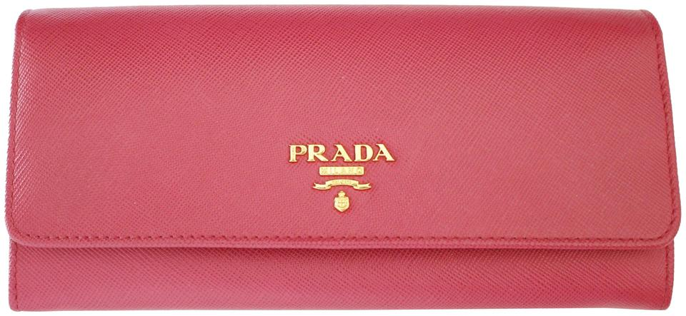 6468d7191cbf Prada NEW! Saffiano Leather Continental Long Wallet in Peonia Pink 1M1132  Image 0 ...