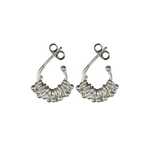 Me & Ro E734-733-13 S Sterling Silver Tiny Jumpring with Ball Hoop Earrings