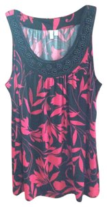 1 Madison Top Pink and Black