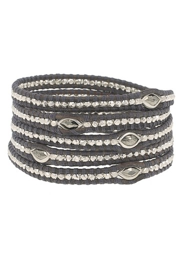 Preload https://img-static.tradesy.com/item/23560971/chan-luu-black-5-wrap-leather-with-silver-and-marquise-pyrite-bracelet-0-0-540-540.jpg