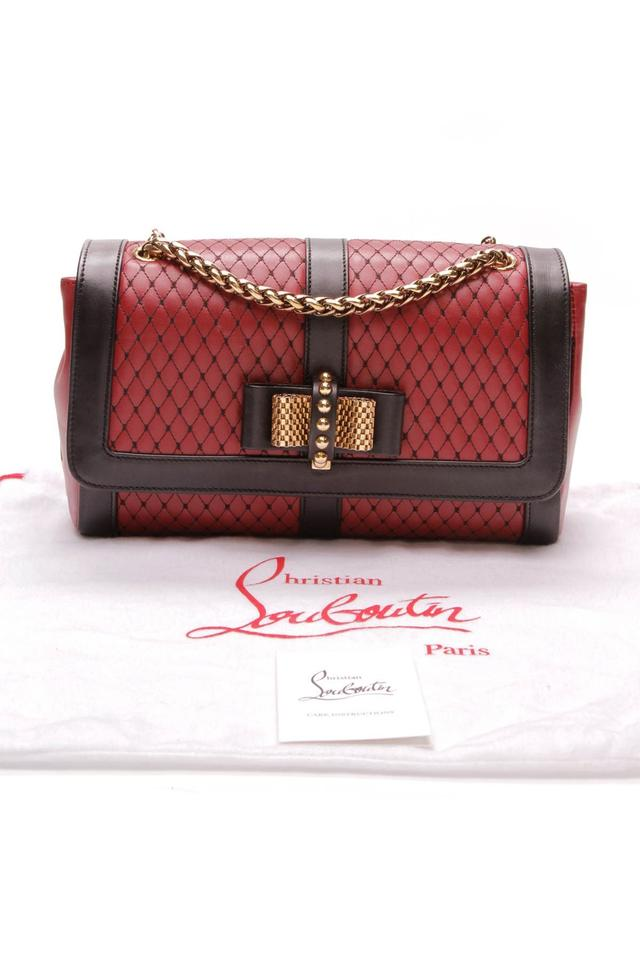 0fceb001d04 Christian Louboutin Sweet Charity Small - Red Black Calfskin Leather  Shoulder Bag 51% off retail