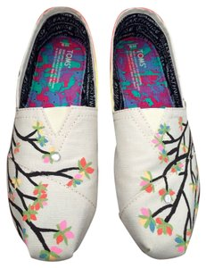TOMS Trees Hand Painted multicolor Flats