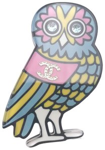 Chanel Chanel Brand New Multi Color Owl Resin Brooch