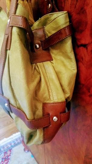 Tano Satchel in chartreuse and brown Image 3