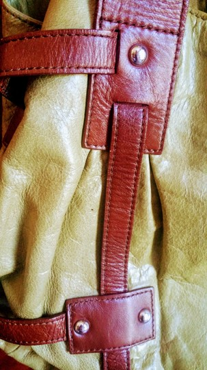 Tano Satchel in chartreuse and brown Image 6